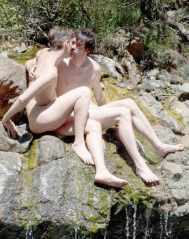 Nude Gay Couple Outdoors 4 by TheMaleNudeStock