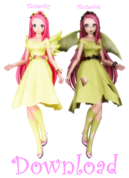 [MMD] TDA Fluttershy pack [DL] UPDATED by MMD-Anime-Bunny
