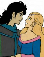 Medieval Voltron Keith and Allura  by cubbieberry