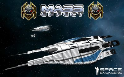 Dan2D3D's Mass Effect Alliance Frigate concept by Dan2D3D