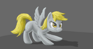 Stretching Derpy by odooee