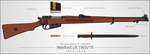 Wexford LR.1905/15 Bolt-Action Rifle by graphicamilitare