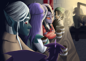 Four adventurers walk into a bar... by Egnazol