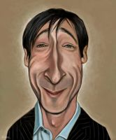 Adrian Brody caricature by fillengroovy