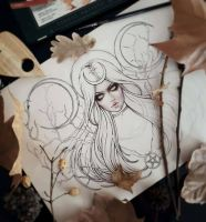 Hecate Tattoo Commission WIP by EnysGuerrero