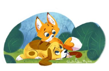 The Fox n the Hound by JessieDrawz