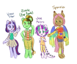 Anthro Ponies p1 (MLP Next Gen) by MartenMartes