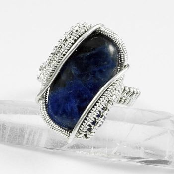 Sodalite and Sterling Ring by Gailavira
