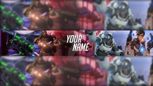 Overwatch Youtube Banner Template by DazGames