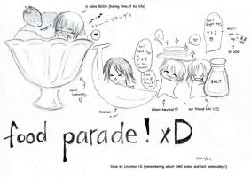 fooood parade xDD by Silent-Neutral