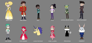 Aurora - Secondary Characters Design by jgss0109