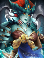 Azshara and the Boy Prince by Meeshell-Art