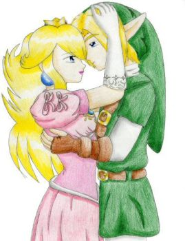 Peach + Link by smashsweetie