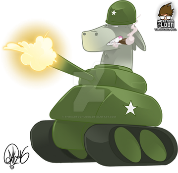 Army Donkey by TheCartoonLoon