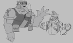 Nick Bebop and IDW Rocksteady by CandyKappa