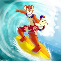 Surfing the Pipeline by buizelmaniac