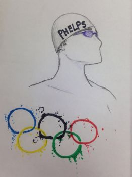 Michael Phelps sketch by Sneezytree