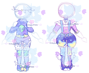 (CA) - Space-Alien Outfits by Kirbypuff326