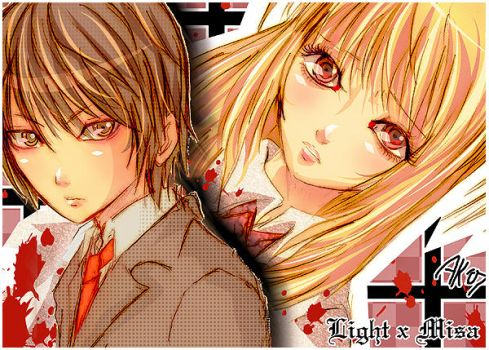 light and misa commish 0x0 by EternalEnd