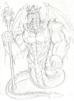 God dragon who rule the sky by Zero-Ethereal