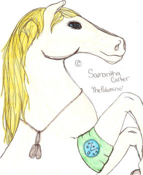 Samantha Carter as a Horse by TwinWolfSister