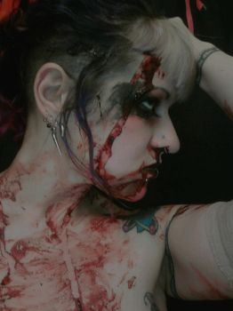 Blood photoshoot by silverhart