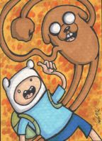Finn and Jake Sketch Card SOLD by angelacapel