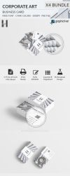 Corporate Art Business Card x4 Bundle by Hasyemi12