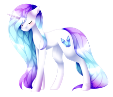 Icy Crystal +speedpaint by itsIzzyBel