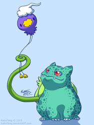 Birthday Bulba Balloon by KattoTang