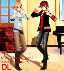 MMD Mystic Messenger 707 and Yoosung DL by ZKArti