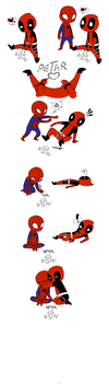 Peter loves Wade- Spidepool 6 by BlueDressWonder