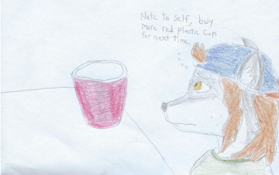 Note To Self AC Red Solo Cup by TheSuperArtWorks
