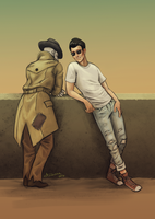 Nick And Deacon Chattin it up by UnderNeonLights