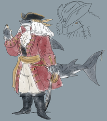 shark pirate by Spoonfayse