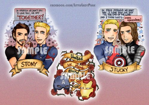 +Marvel: Stickers by LittleLadyPunk