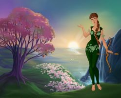 Greek Goddess Artemis (My Version) by suburbantimewaster