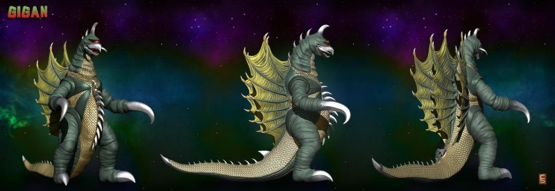 Gigan - All Angles Rendered by Digiwip