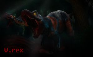 Omega and trasher Rex 3d jurassic park chaos effec by Wolfhooligans