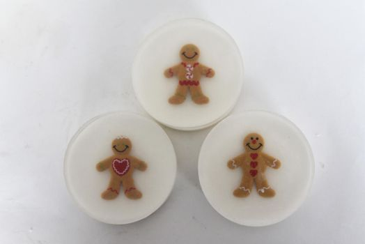Gingerbread Men Soap by JupiterArt
