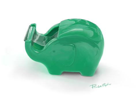 Table tape cutter ELEPHANT by pinkapapin
