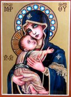 + Theotokos of Vladimir + by Theophilia