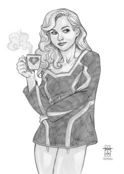 Supergirl's Coffee by Everwho