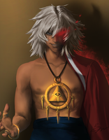 Thief King Bakura by toffeecup