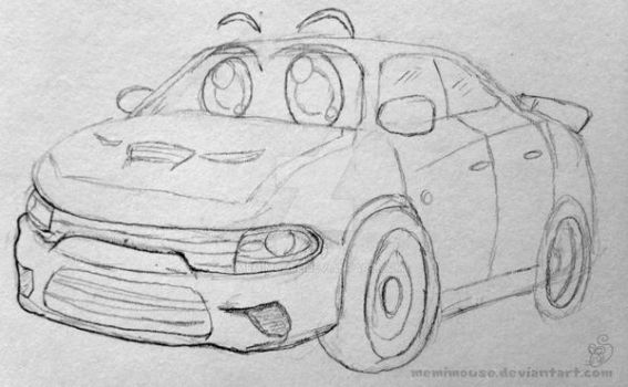 Car Sketch by MeMiMouse