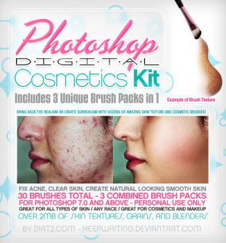 Skin and Cosmetic Brushes 3in1 by KeepWaiting