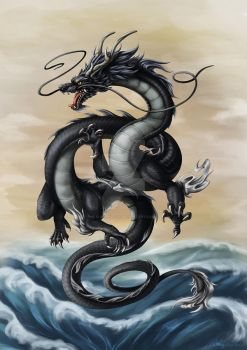 Year of the Black Water Dragon 2012 by Sleepingfox