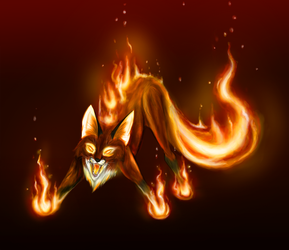 Fire Fox WIP IV by Phoenix-Cry