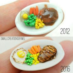 2012 vs 2016 remake by SmallCreationsByMel