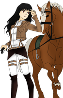 A soldier with a Horse ~ by ZariiChwan